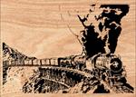 Full Steam Ahead Scrolled Art Pattern