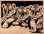 Playful Cubs Scrolled Art Pattern