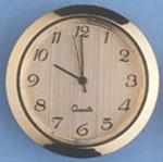 Quartz Mini Clock  Arabic/Gold