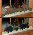 Bear/Moose Sliding Door Locks Woodcraft Patterns