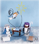 Mini Snowmen Nativity Woodcraft Patterns