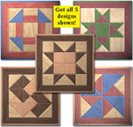 Small Quilt Squares Woodcraft Pattern