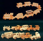 Wooden Vehicle Collection Set Woodcraft Patterns