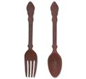 Giant 3D Fork & Spoon Woodcraft Pattern