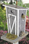 Rustic Outhouse Birdhouse Woodcraft Pattern