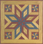 Painted Wooden Quilt Square #2 Woodcraft Pattern