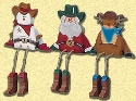 Country Christmas Shelf Sitters Wood Pattern