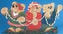 Bear Trio Window Screen Pattern