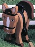 Layered Pony Woodcraft Pattern