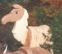 Layered Llama Woodcraft Pattern