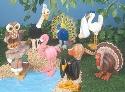 Feathered Friends Layered Animal Pattern Set