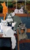 Playful Cats Woodcraft Pattern