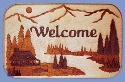 Cabin Welcome Plaque Scroll Saw Pattern