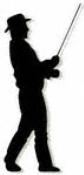 Standing Fisherman Shadow Woodcraft Pattern