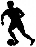 Soccer Player Shadow Woodcrafting Pattern