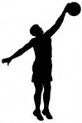 Basketball Player Shadow Wood Pattern