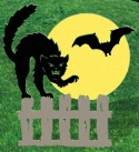 Scared Cat Shadow Woodcrafting Pattern