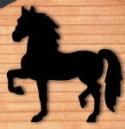 Strutting Horse Shadow Woodcraft Pattern