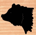 Giant Grizzly Bear Head Shadow Wood Pattern