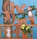 Yard Squirrels Woodcrafting Pattern