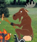 Campfire Moose Woodcrafting Plan