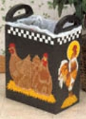 Rooster & Chicken Trash Bin Plans