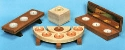 Wooden Candleholders Pattern Set #2