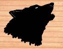 Giant Wolf Head Shadow Wood Pattern