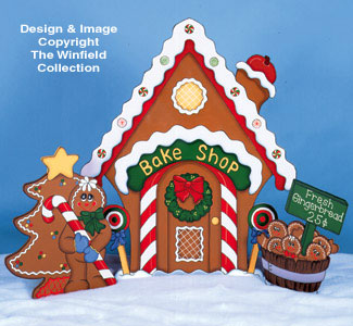 gingerbread house bake shop pattern - Christmas Gingerbread House Yard Decoration