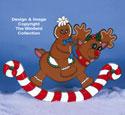 Gingerbread Rocking Reindeer Pattern