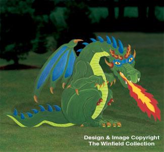 Giant Fire Breathing Dragon Pattern