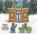 Gingerbread Police Station Woodcraft Pattern