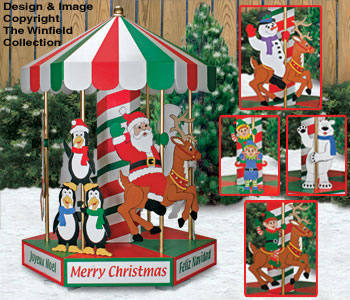 christmas carousel woodworking plans - Christmas Carousel Decoration