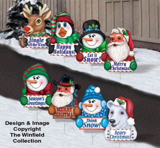 Christmas Greeting Signs Pattern Set