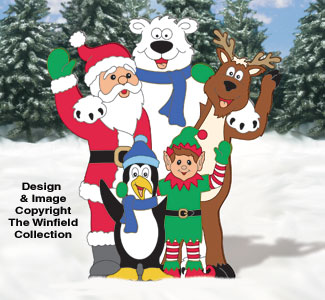 Waving Christmas Pals Woodcraft Pattern
