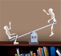 Tabletop Teetering Skeletons Pattern