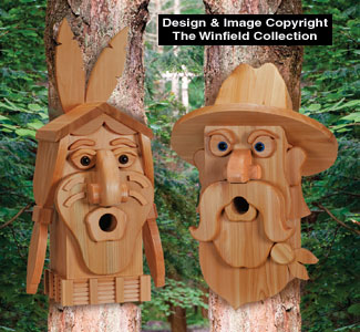 Birdhouse Wood Patterns - Cedar Cowboy & Indian Birdhouse Plans