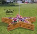 Landscape Timber Star Planter Plans