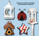 Birdhouses and Feeders Pattern Set