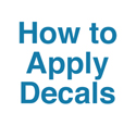 Decal Application Instructions