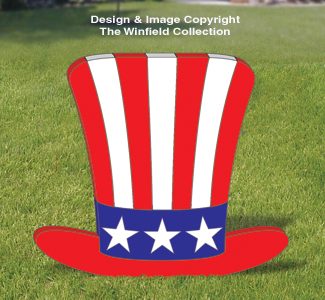 fourth of july patriotic large uncle sam hat pattern