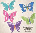 Elegant Butterflies Pattern Set