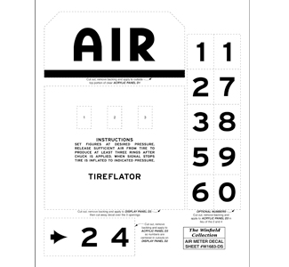 Air Meter Vinyl Decal Sheet