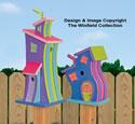 Decorative Whimsical Birdhouses Pattern