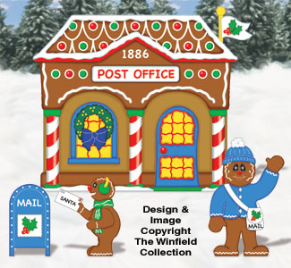 gingerbread post office pattern - Post Office Christmas Hours
