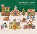 Tabletop Gingerbread Village #3 Pattern