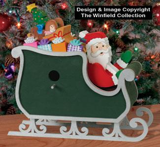 Santa Sleigh Birdhouse Decor Pattern