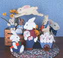 13 Country Rabbits Woodcraft Pattern