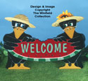 Crows Welcome Sign Pattern