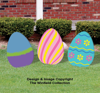 Easter Large Easter Eggs Woodcraft Pattern Set